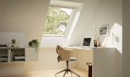 A home office with Sage Glass glazing