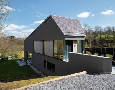The Steep Wedge House self-build