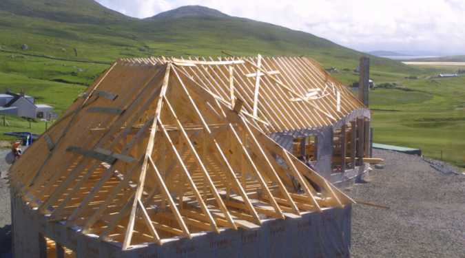 Roof trusses on a self-build