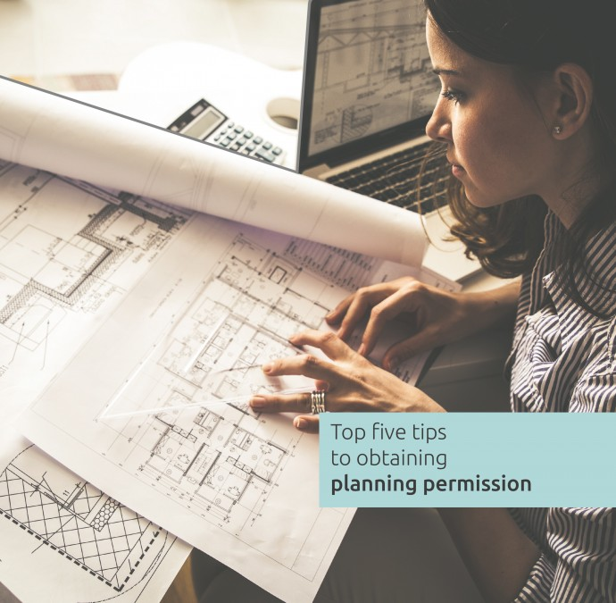 Infographic - Top 5 tips to obtaining planning permission