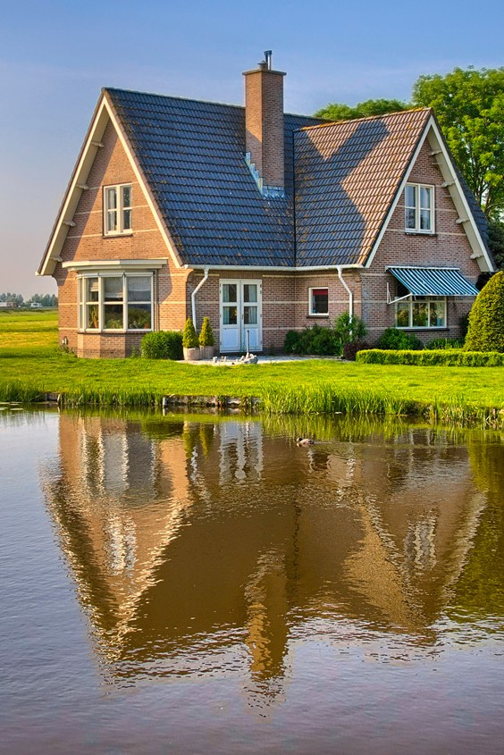 Traditional House by lake