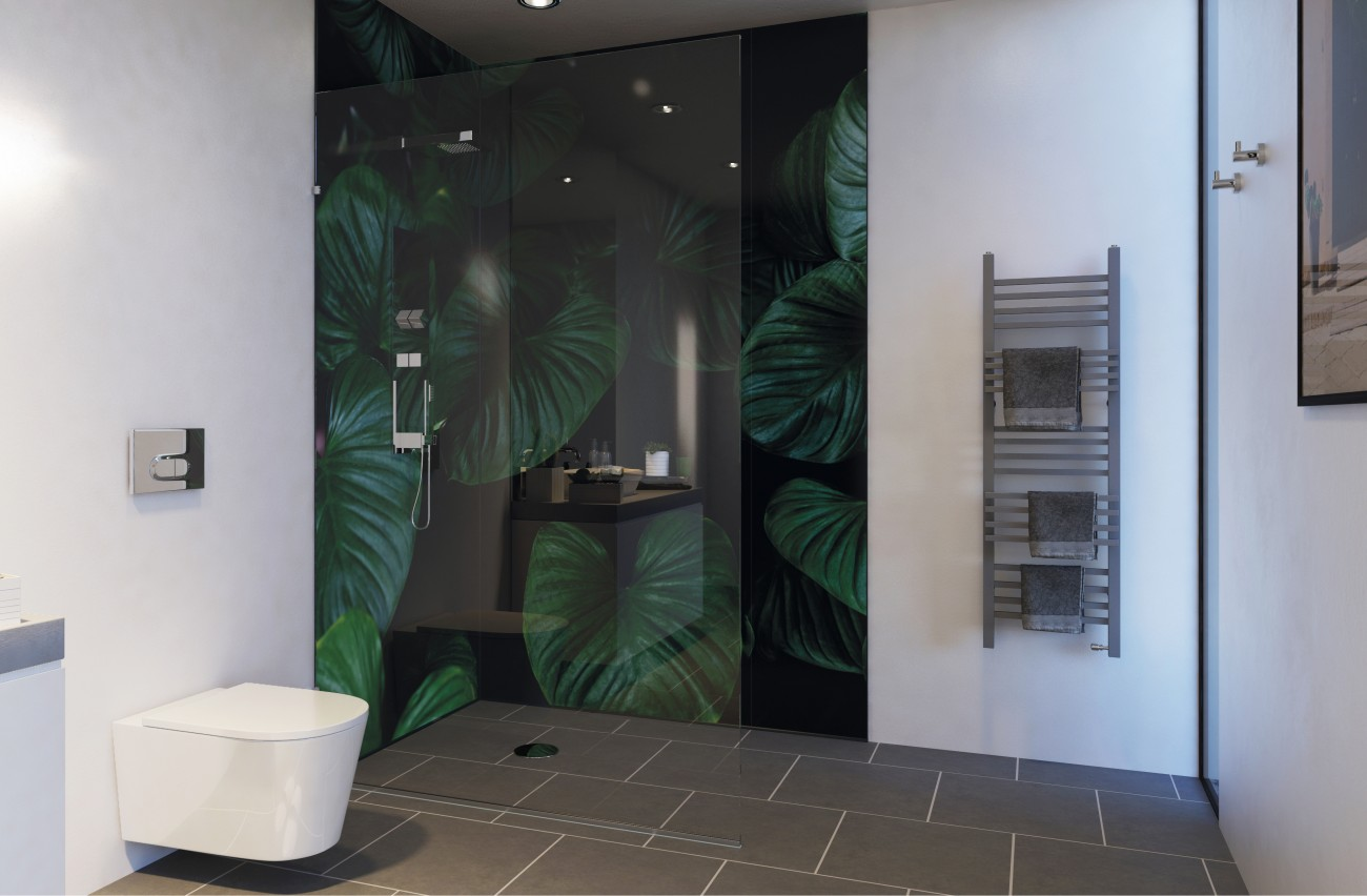 Showerwall Custom Leafy Design