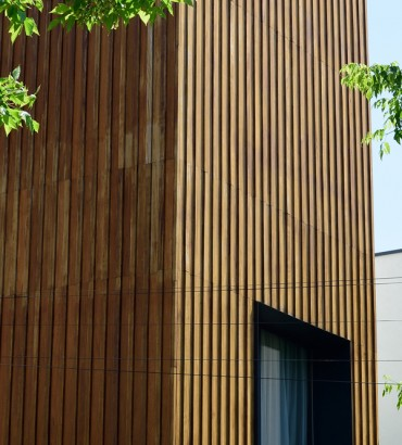 House with timber cladding