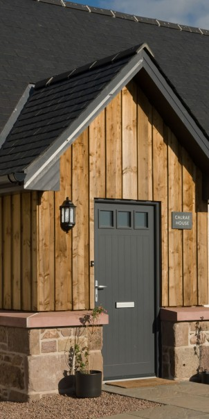 Self-build with timber cladding