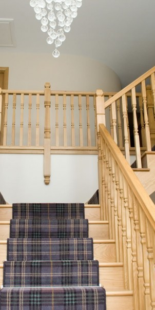 Staircase inside self-build